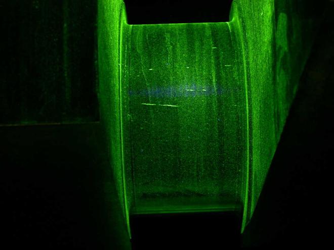 non-destructive test Magnetic particle inspection of a crankshaft