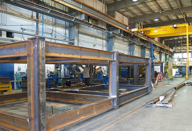 Fabricated steel parts. Structural Steel Fabrication, Industrial fabricators Services