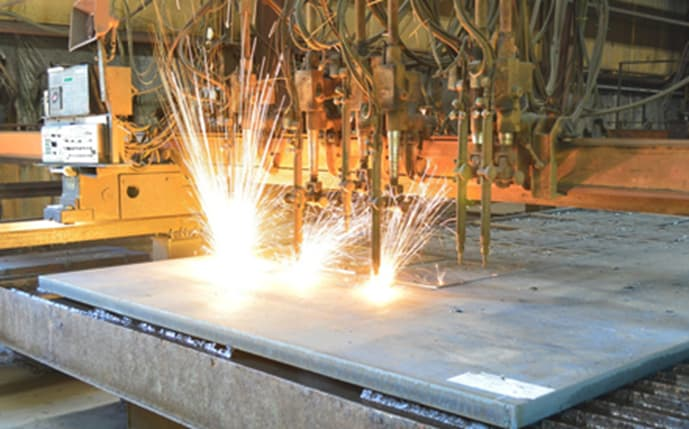 Fig. Flame cutting operation for sizing a steel section. The number of torches may depend on different applications. Quality Flame Cutting | American Steel & Aluminum. (2021). Retrieved March 2021