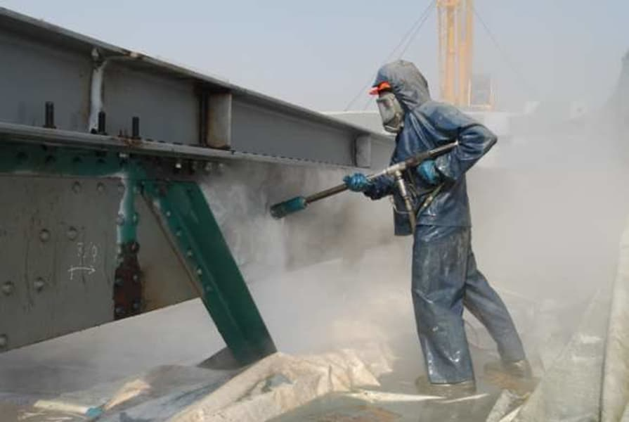 Structural Steel Process - Blast cleaning for better surface quality.