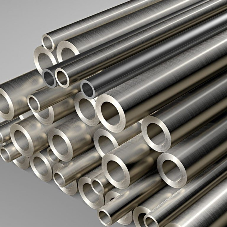 Stainless steel pipes available in different dimensions.