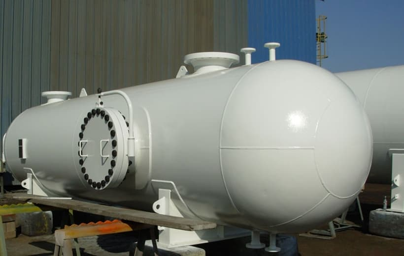 A pressure vessel that requires ASME U stamp for safety purposes.