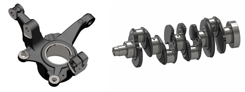 Steering knuckle and crankshaft – Typical applications of austempered cast irons